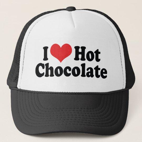 I Love Heart Hot Chocolate - Hot Cocoa Lovers Trucker Hat