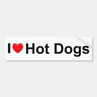 I Love (Heart) Hot Dogs Bumper Stickers
