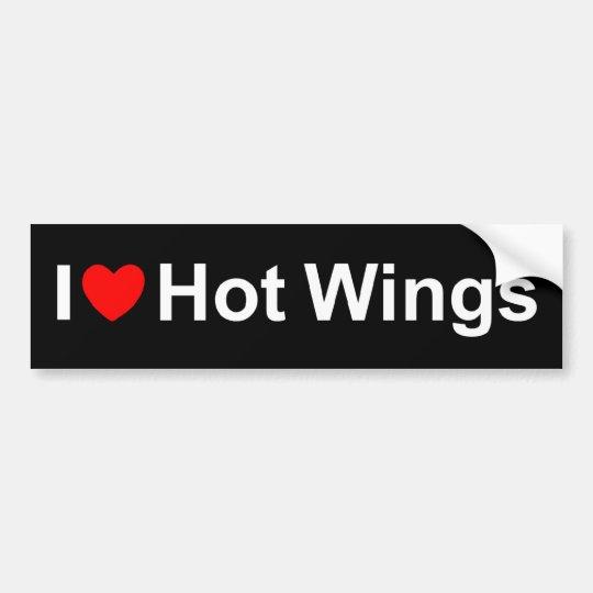 I Love (Heart) Hot Wings Bumper Sticker