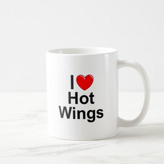 I Love (Heart) Hot Wings Coffee Mug