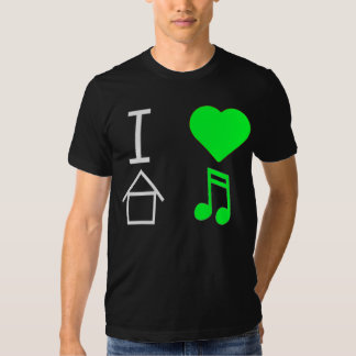 I love (heart) House Music - Lime Green T Shirt