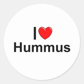 I Love (Heart) Hummus Classic Round Sticker