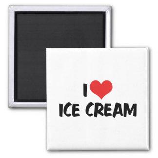 I Love Heart Ice Cream Magnet