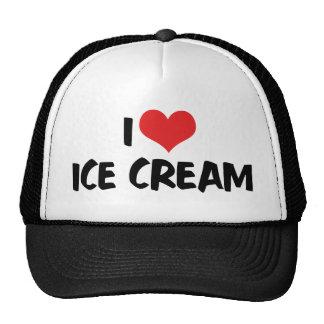 I Love Heart Ice Cream Trucker Hat