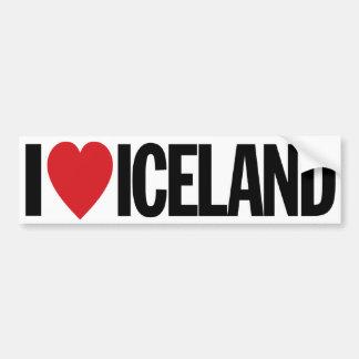 "I Love Heart Iceland 11"" 28cm Vinyl Decal Bumper Sticker"