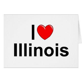 I Love (Heart) Illinois Card