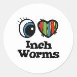 I Love (Heart) Inchworms Sticker