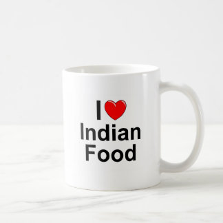 I Love (Heart) Indian Food Classic White Coffee Mug