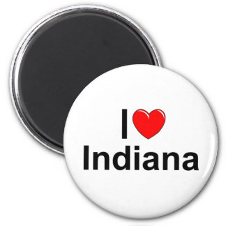 I Love (Heart) Indiana 2 Inch Round Magnet