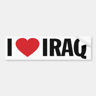 "I Love Heart Iraq 11"" 28cm Vinyl Decal"