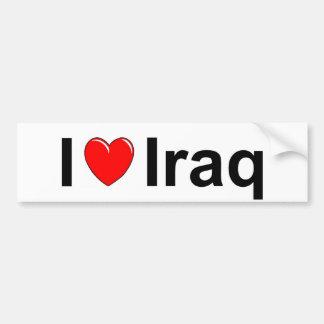 I Love Heart Iraq Bumper Sticker