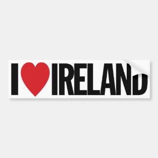 "I Love Heart Ireland 11"" 28cm Vinyl Decal Bumper Sticker"