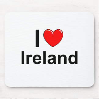 I Love Heart Ireland Mouse Pad
