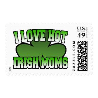 I Love Heart Irish Moms Stamps