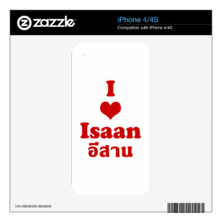 I Love (Heart) Isaan iPhone 4S Skins