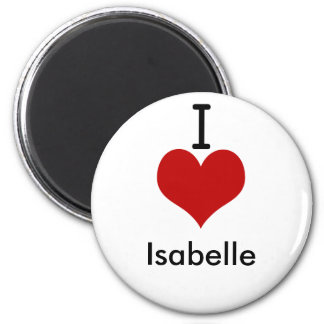 I Love (heart) Isabelle 2 Inch Round Magnet