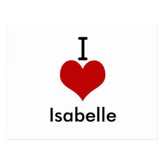 I Love (heart) Isabelle Postcard