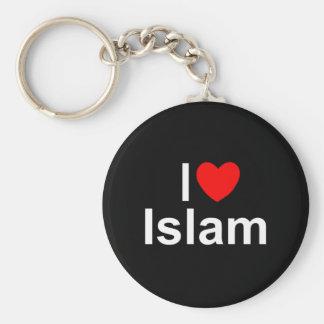 I Love (Heart) Islam Basic Round Button Keychain