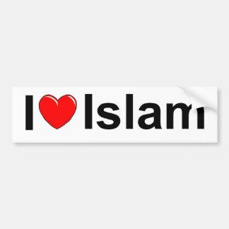 I Love (Heart) Islam Car Bumper Sticker