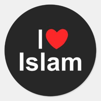 I Love (Heart) Islam Classic Round Sticker