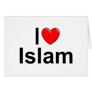 I Love (Heart) Islam Greeting Card