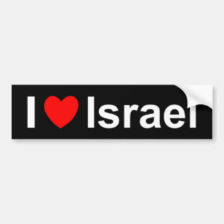 I Love Heart Israel Bumper Sticker