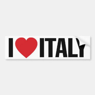 "I Love Heart Italy 11"" 28cm Vinyl Decal Bumper Sticker"