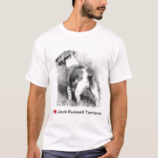 I Love (Heart) Jack Russell Terriers: Pencil T-Shirt