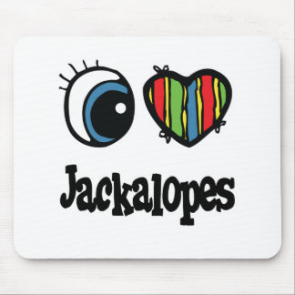 I Love (Heart) Jackalopes Mouse Pad
