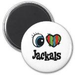 I Love (Heart) Jackals Fridge Magnet