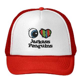 I Love (Heart) Jackass penguins Trucker Hat