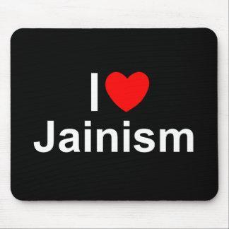 I Love (Heart) Jainism Mousepads