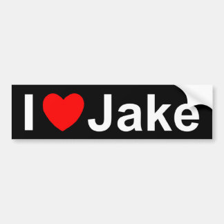 I Love (Heart) Jake Bumper Sticker