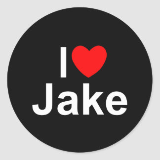 I Love (Heart) Jake Classic Round Sticker