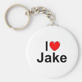 I Love (Heart) Jake Keychain