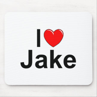 I Love (Heart) Jake Mouse Pad
