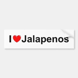 I Love (Heart) Jalapenos Bumper Sticker