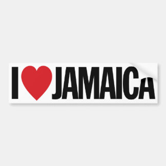 "I Love Heart Jamaica 11"" 28cm Vinyl Decal"