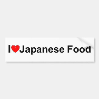I Love (Heart) Japanese Food Bumper Sticker