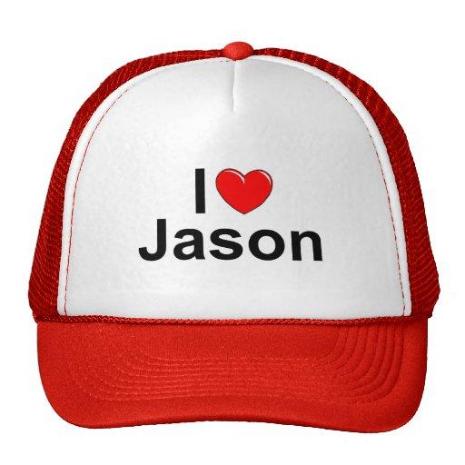 I Love (Heart) Jason Trucker Hat