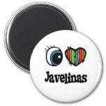 I Love (Heart) Javelinas Refrigerator Magnet