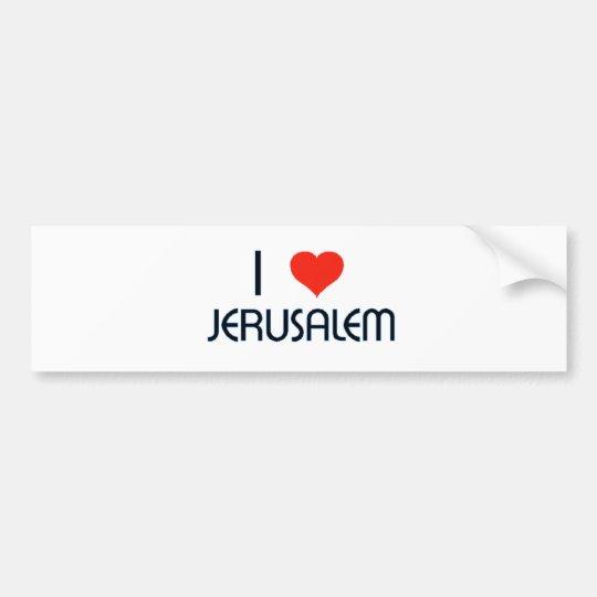 I Love (Heart) Jerusalem Bumper Sticker