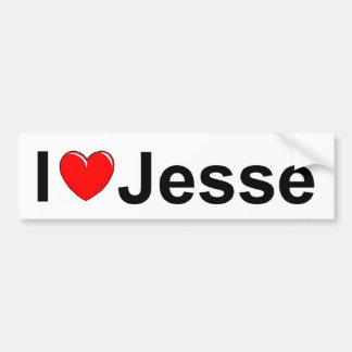 I Love (Heart) Jesse Car Bumper Sticker