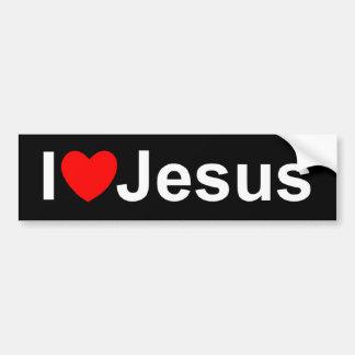 I Love (Heart) Jesus Bumper Sticker