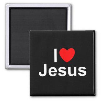 I Love (Heart) Jesus Refrigerator Magnets
