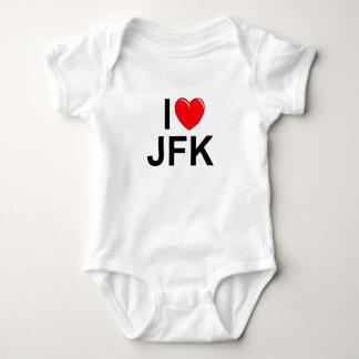 I Love (Heart) JFK Baby Bodysuit