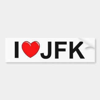 I Love (Heart) JFK Bumper Sticker