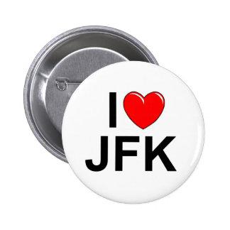 I Love (Heart) JFK Buttons