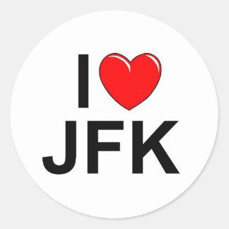 I Love (Heart) JFK Classic Round Sticker