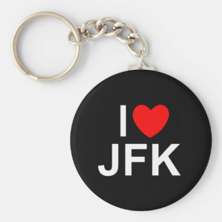 I Love (Heart) JFK Keychain